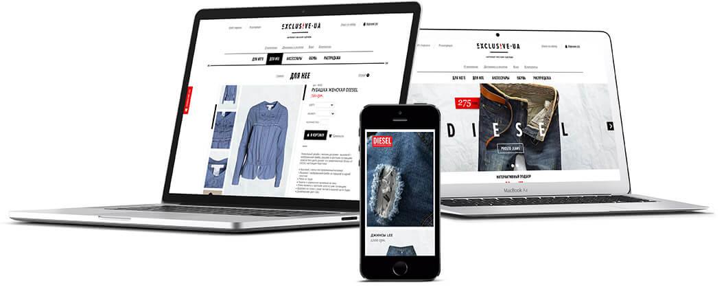 3765b488d Интернет магазин одежды - создание сайта | Портфолио | веб студия Seo Design