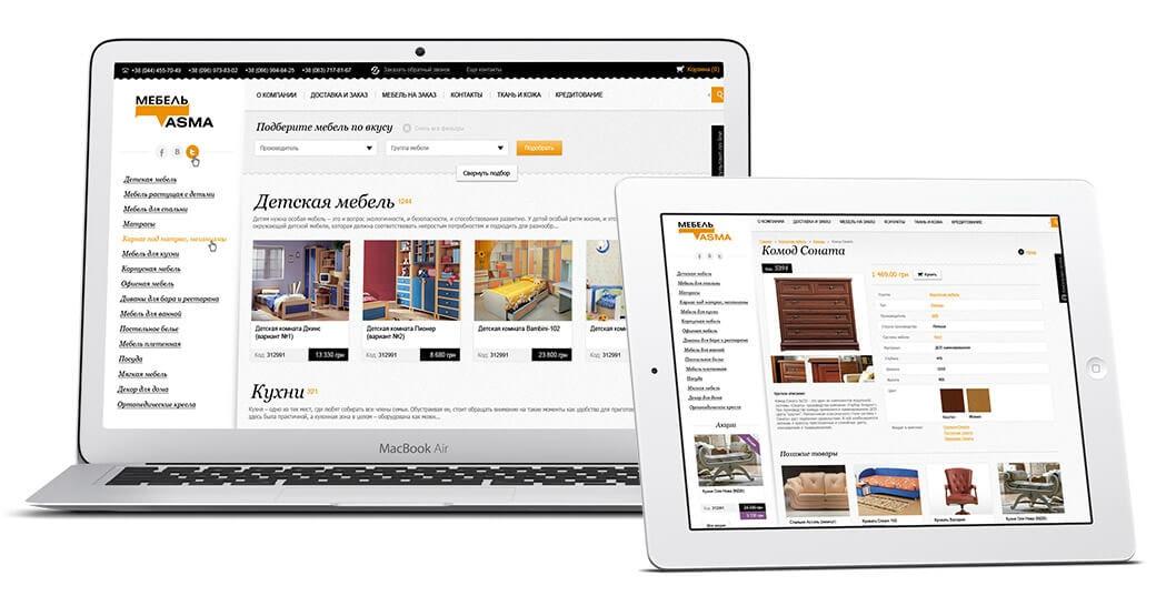 создание интернет магазина мебели на wordpress